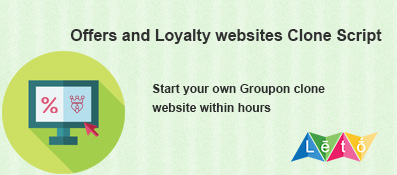 Offer and Loyalty websites like Groupon clone script development in Chennai India